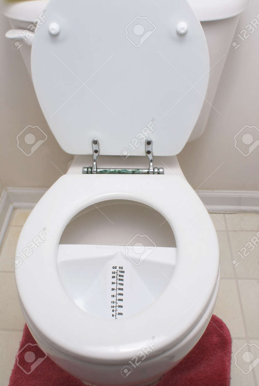 A medical urine hat in a toilet. Stock Photo - 2298358
