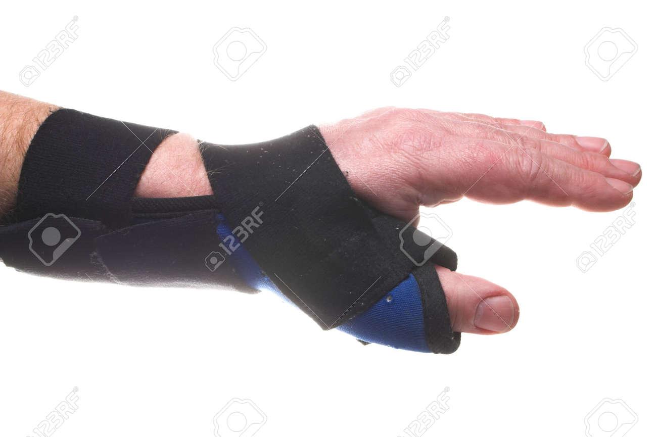 Eine Steife Gewebe Stütze Für Handgelenk Gebrochen Oder Verstaucht