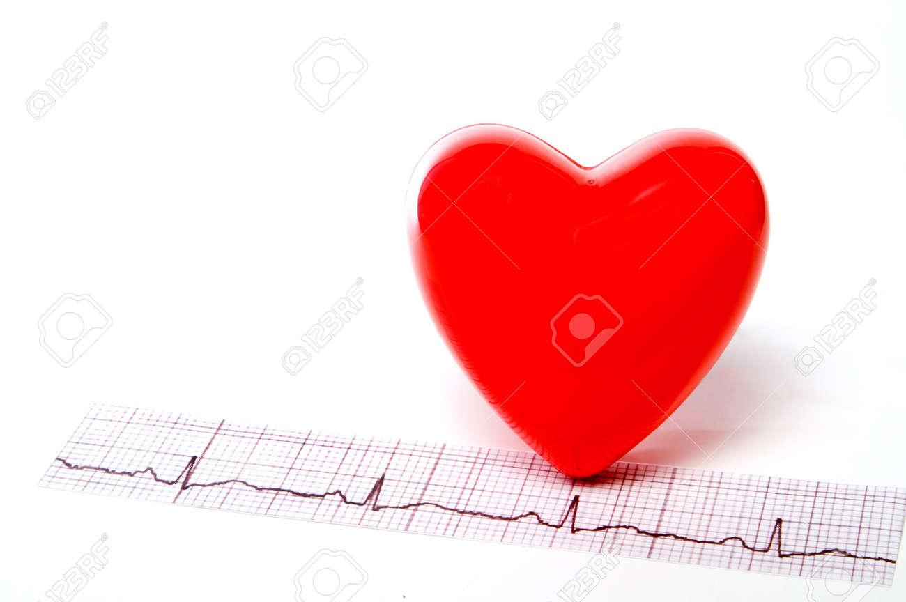 A heart shape and an EKG strip. Stock Photo - 3111980