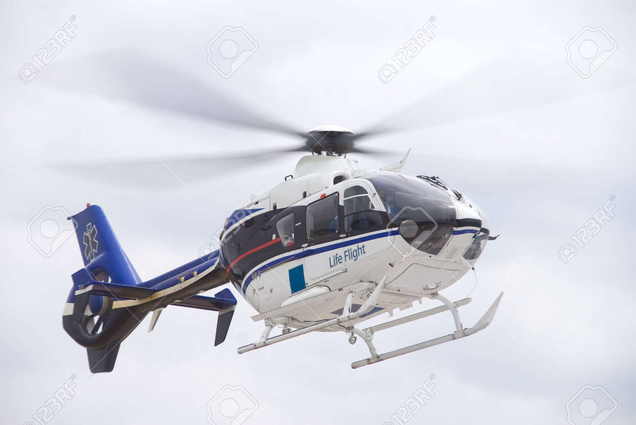 A Mobile Flying Ambulance Better Known As A Life Flight. Stock ...