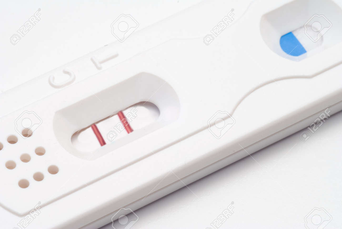 A Home Pregnancy Test showing a positive result. Stock Photo - 4981970