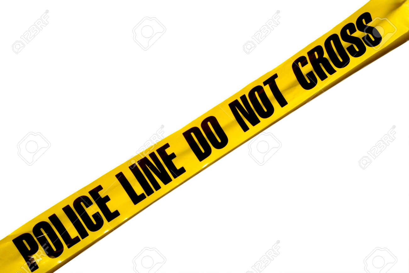 A banner that states Police Line Do Not Cross Stock Photo - 6157664