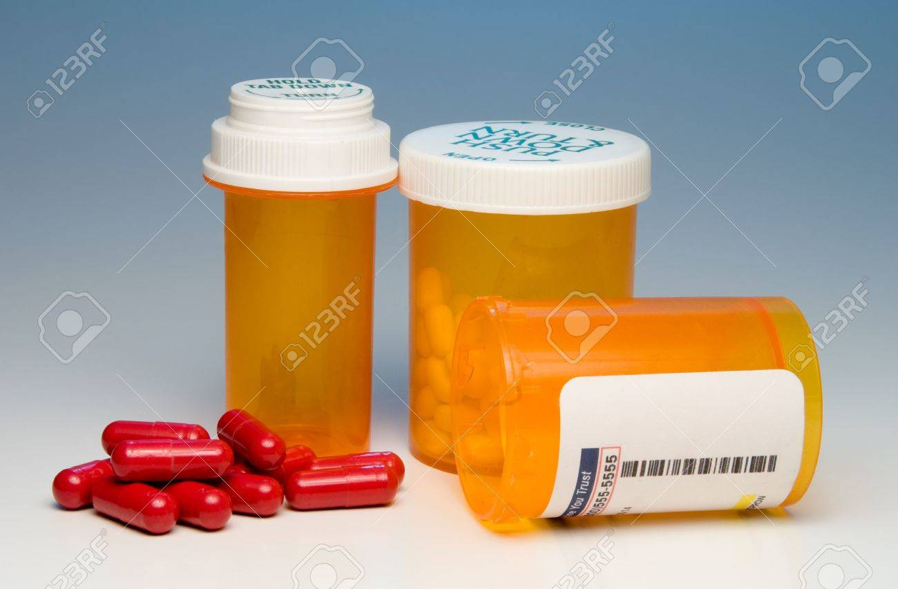 Prescription pills in a plastic medicine bottle. Stock Photo - 6157708