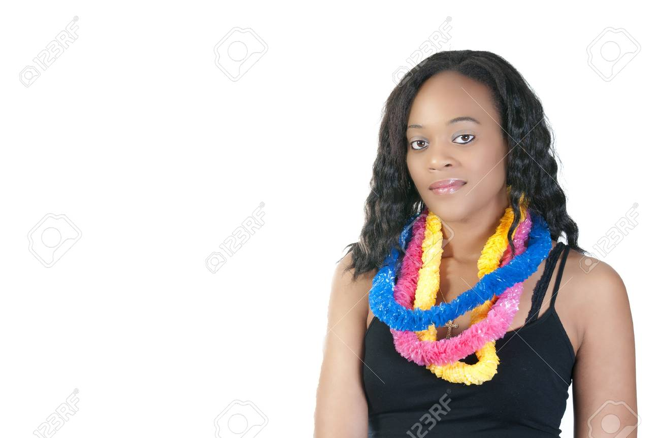 A beautiful African American Woman smiling wide Stock Photo - 7365132