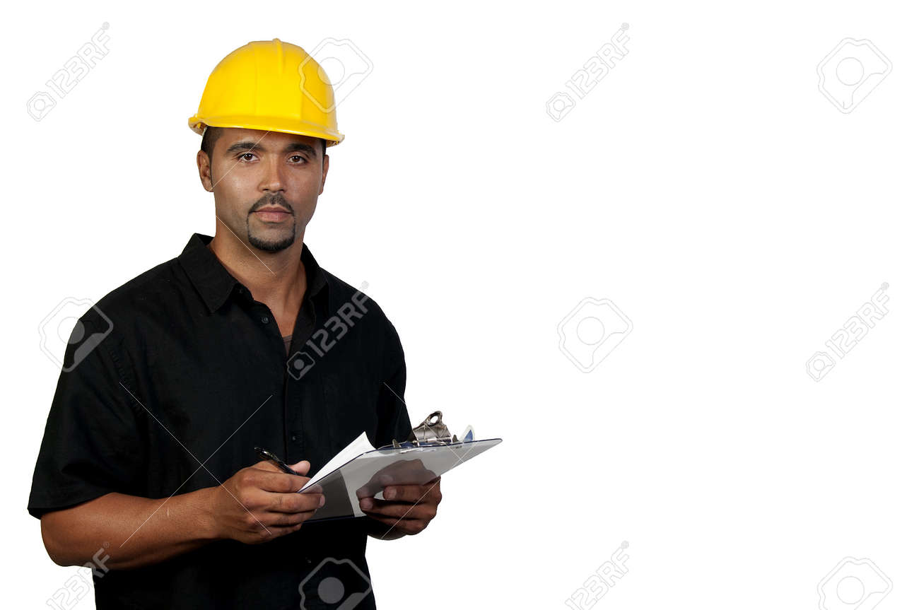 A male construction worker a job site. Stock Photo - 7803786