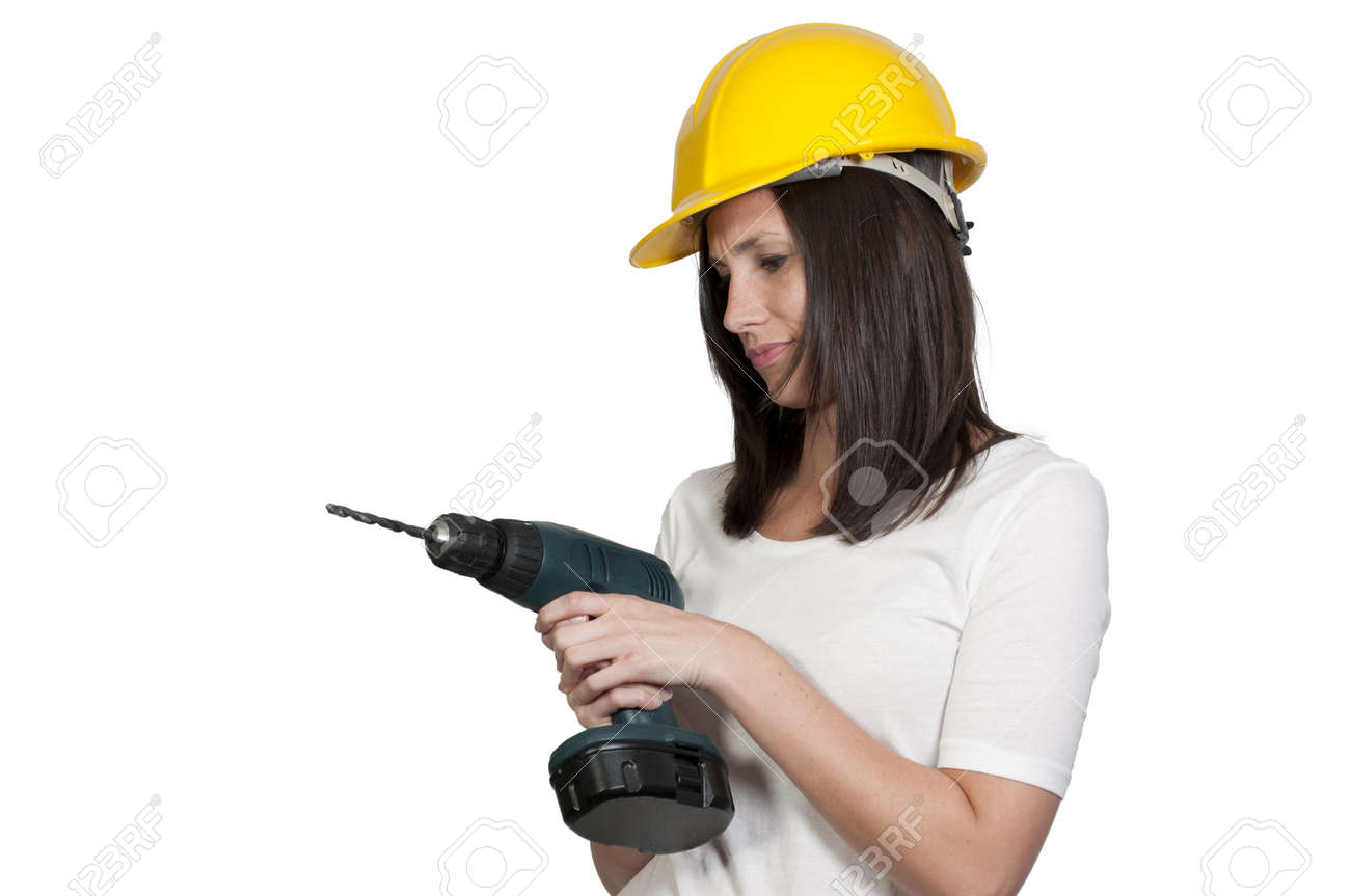 A Female Construction Worker on a job site. Stock Photo - 9578280