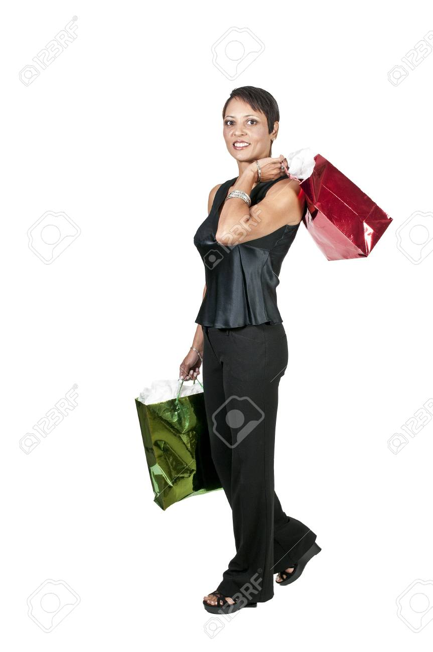 A beautiful woman on a shopping spree Stock Photo - 10857504