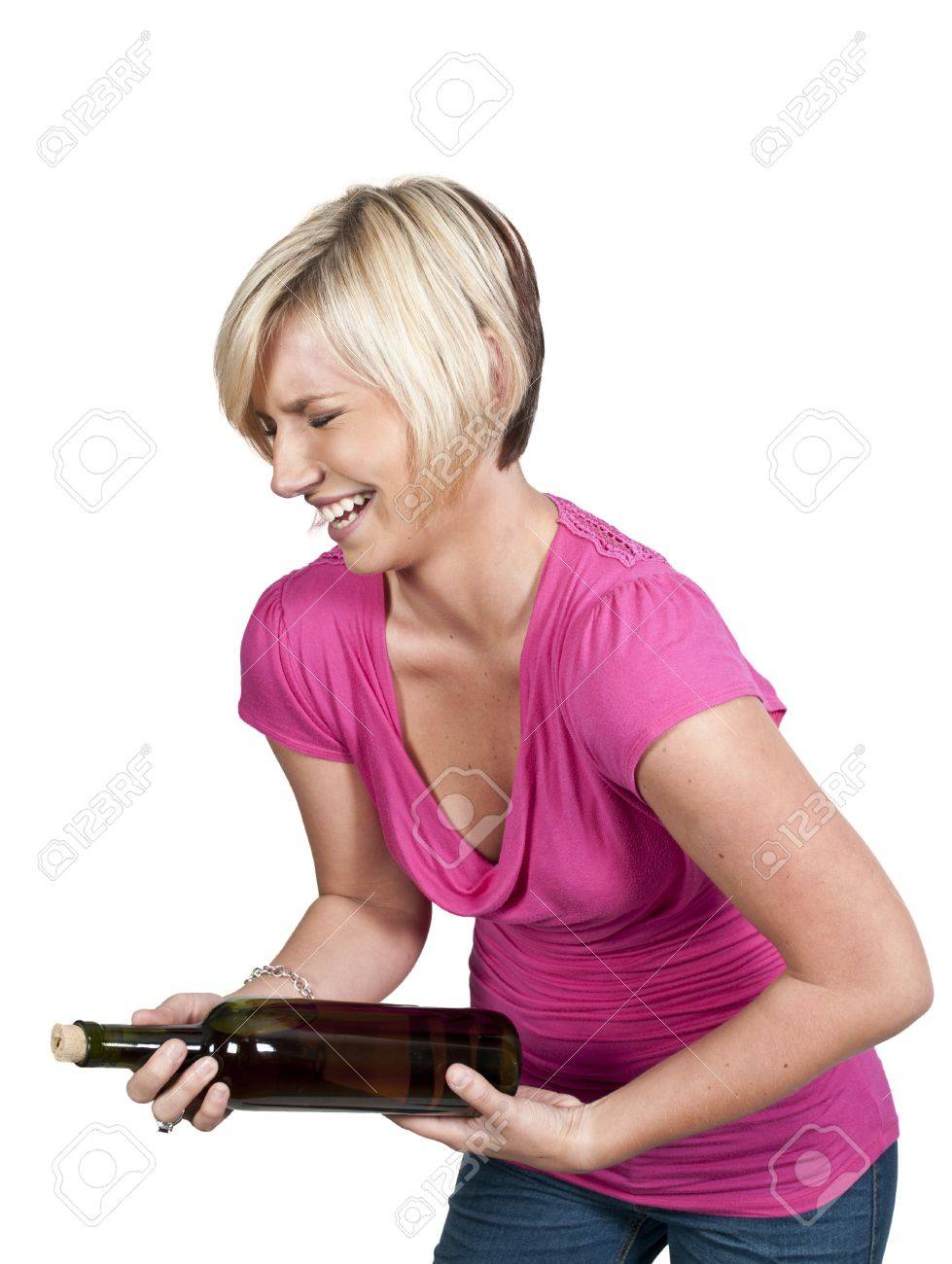 A young Beautiful Woman with a lovely smile laughing Stock Photo - 10857791