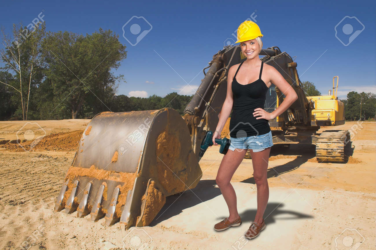 a female construction worker on a job site stock photo picture a female construction worker on a job site stock photo 11171787