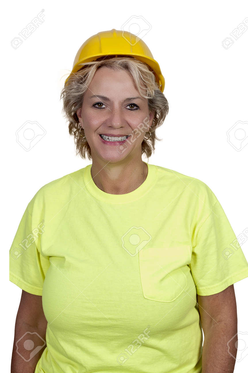 A Female Construction Worker on a job site. Stock Photo - 11171841