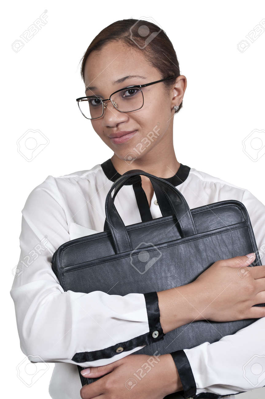 A beautiful young African American upwardly mobile business woman Stock Photo - 14878943