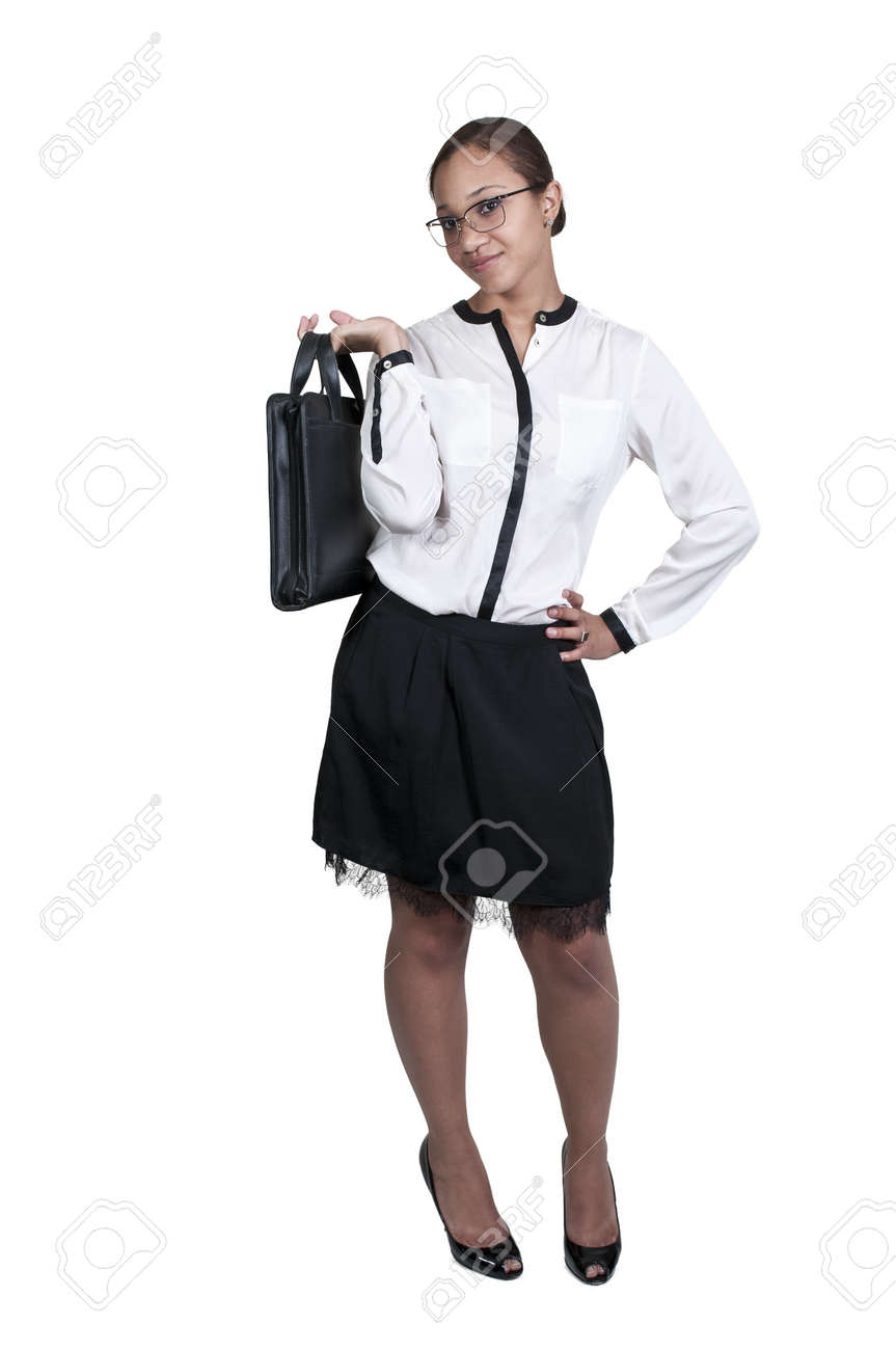 A beautiful young African American upwardly mobile business woman Stock Photo - 14878197