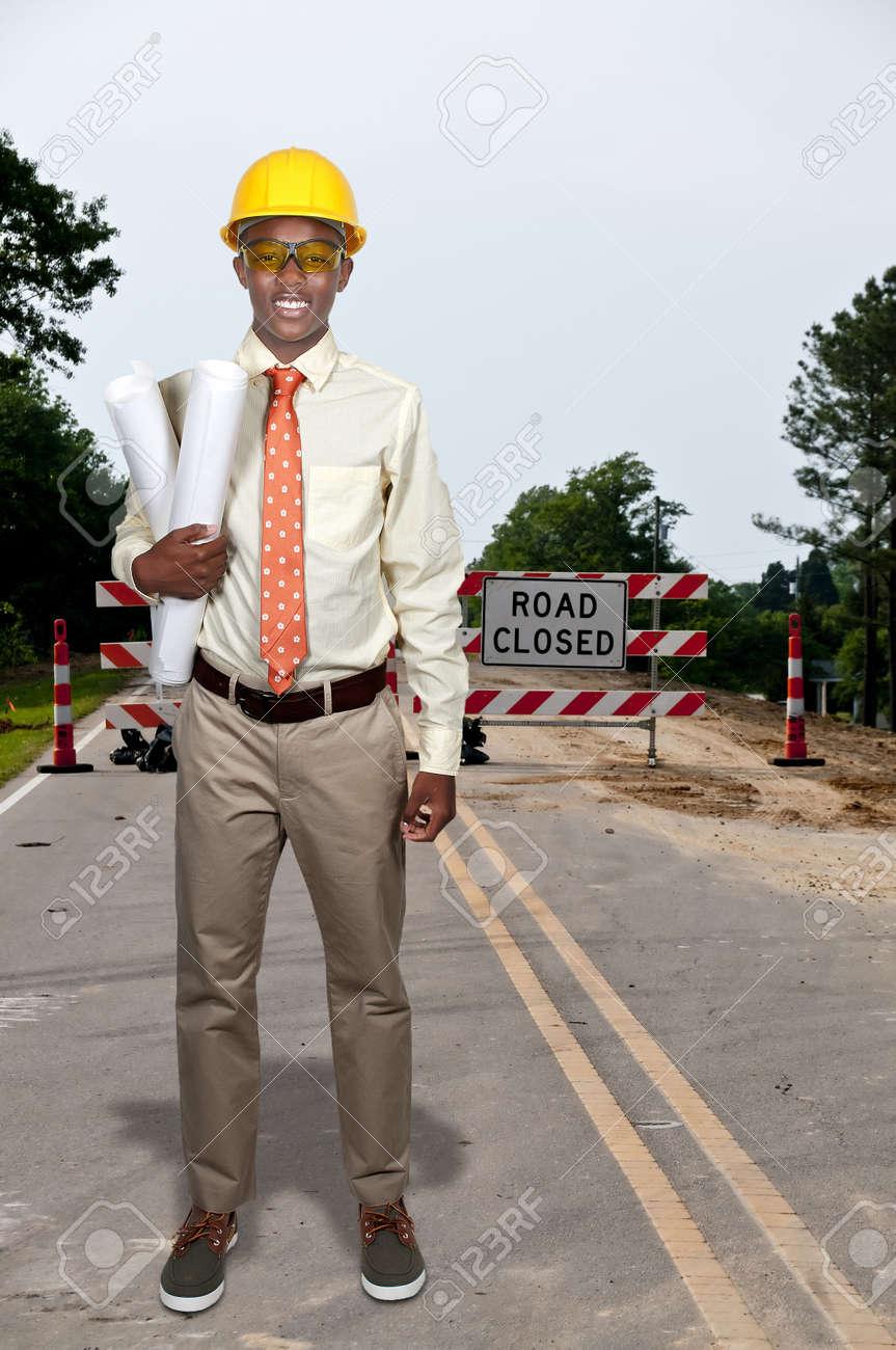 black african american teenage man construction worker on a job black african american teenage man construction worker on a job site stock photo 15112978