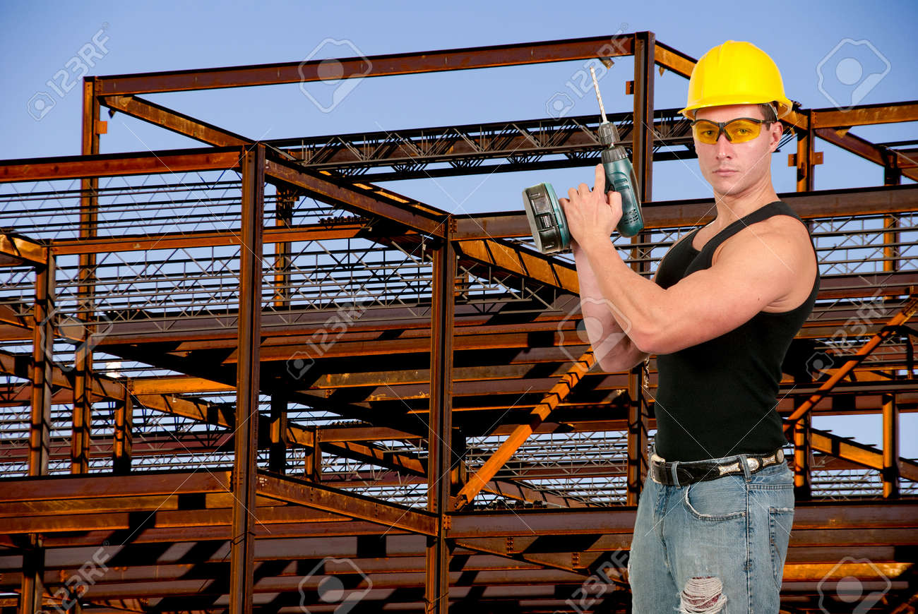 male construction worker on a job site stock photo picture and male construction worker on a job site stock photo 16717540