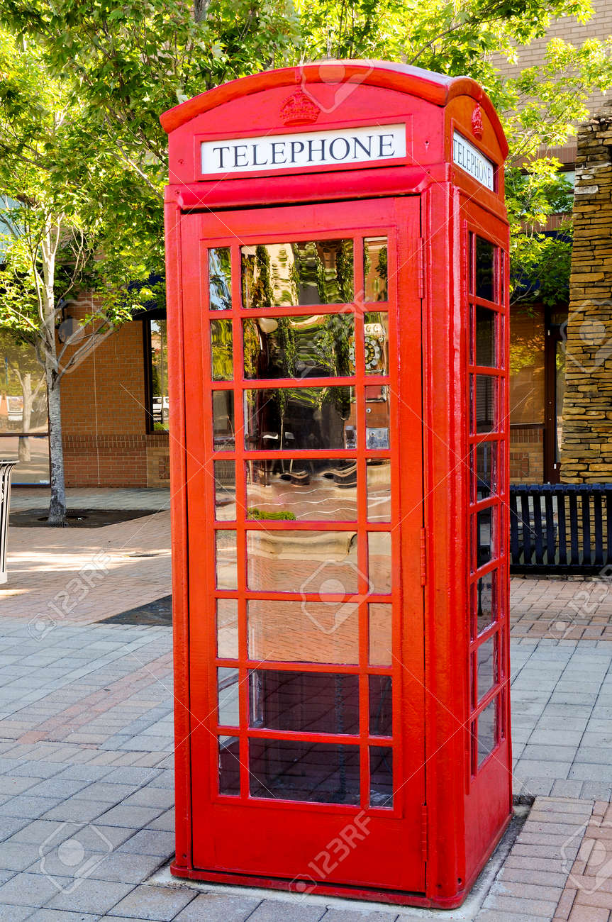 Vintage phone booth used before the age of cell phones