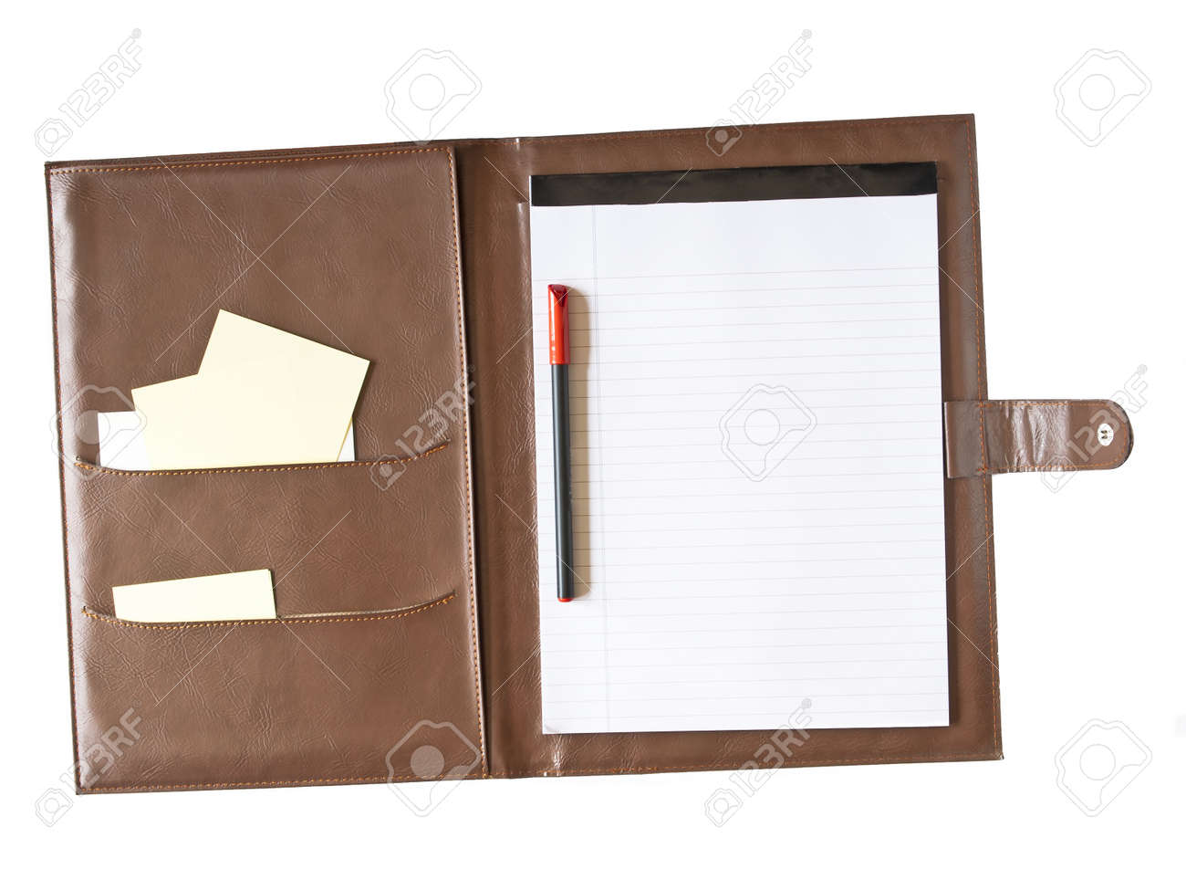 leather case notebook isolated on white background Stock Photo - 16515024