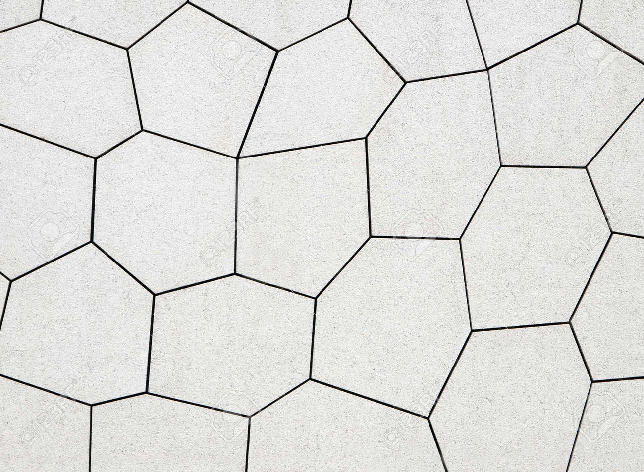 Stone Wall Tiles With Abstract Geometric Shapes Stock Photo, Picture ...