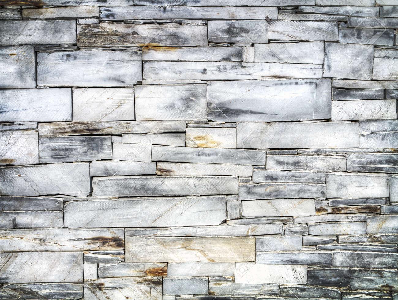 background slate brick wall Stock Photo - 20196554