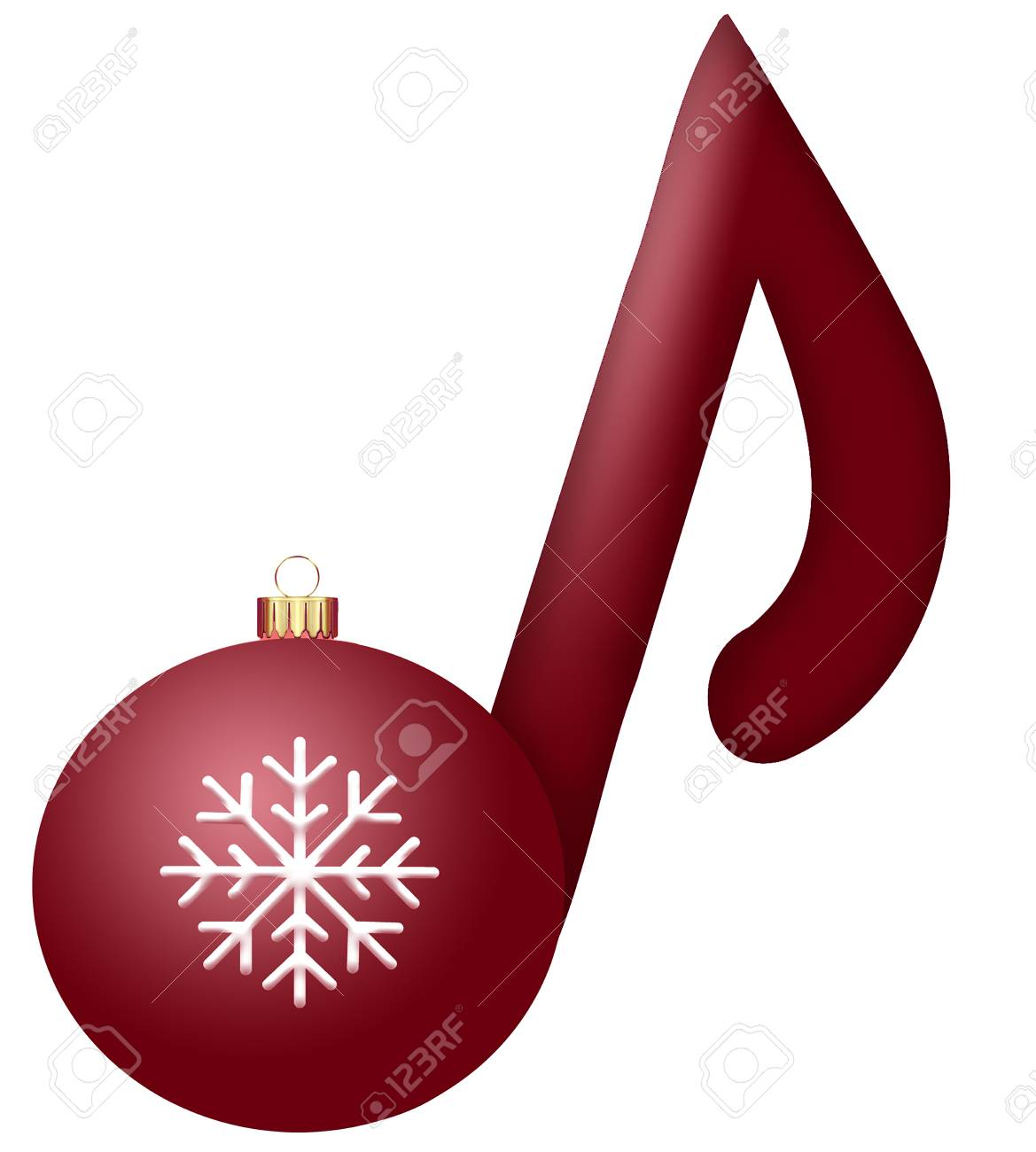 Christmas Music Notes.Stock Illustration