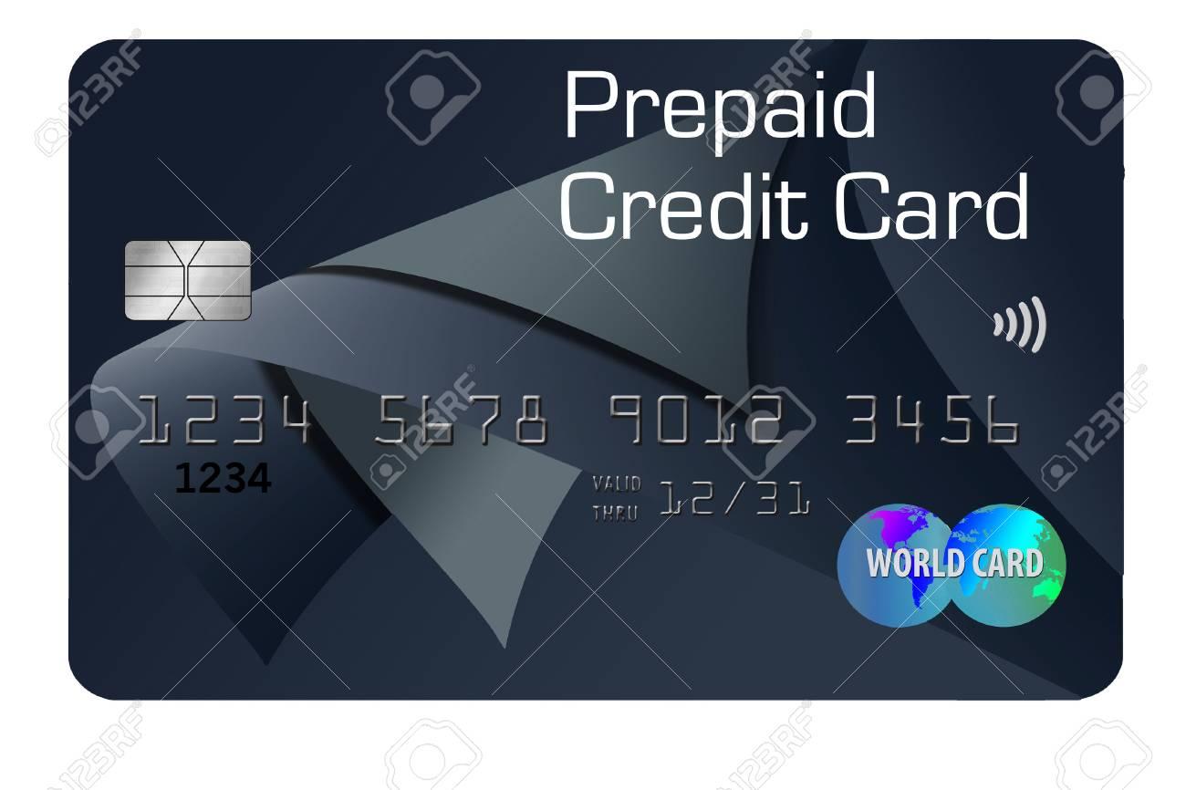 Prepaid Visa Card >> Stock Illustration