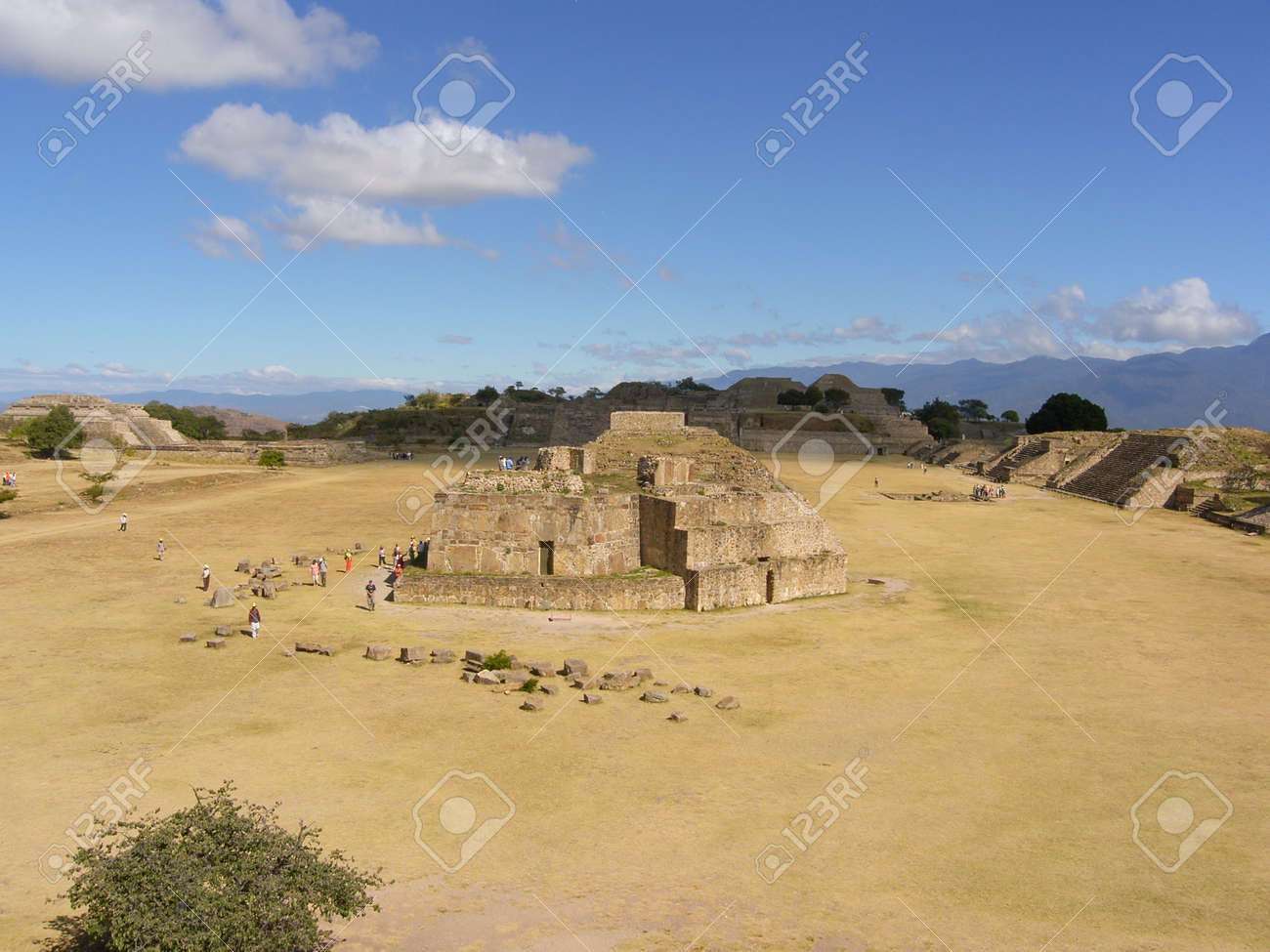 The Ruins of Monte Alban Near Oaxaca are a UNESCO World Heritage Site