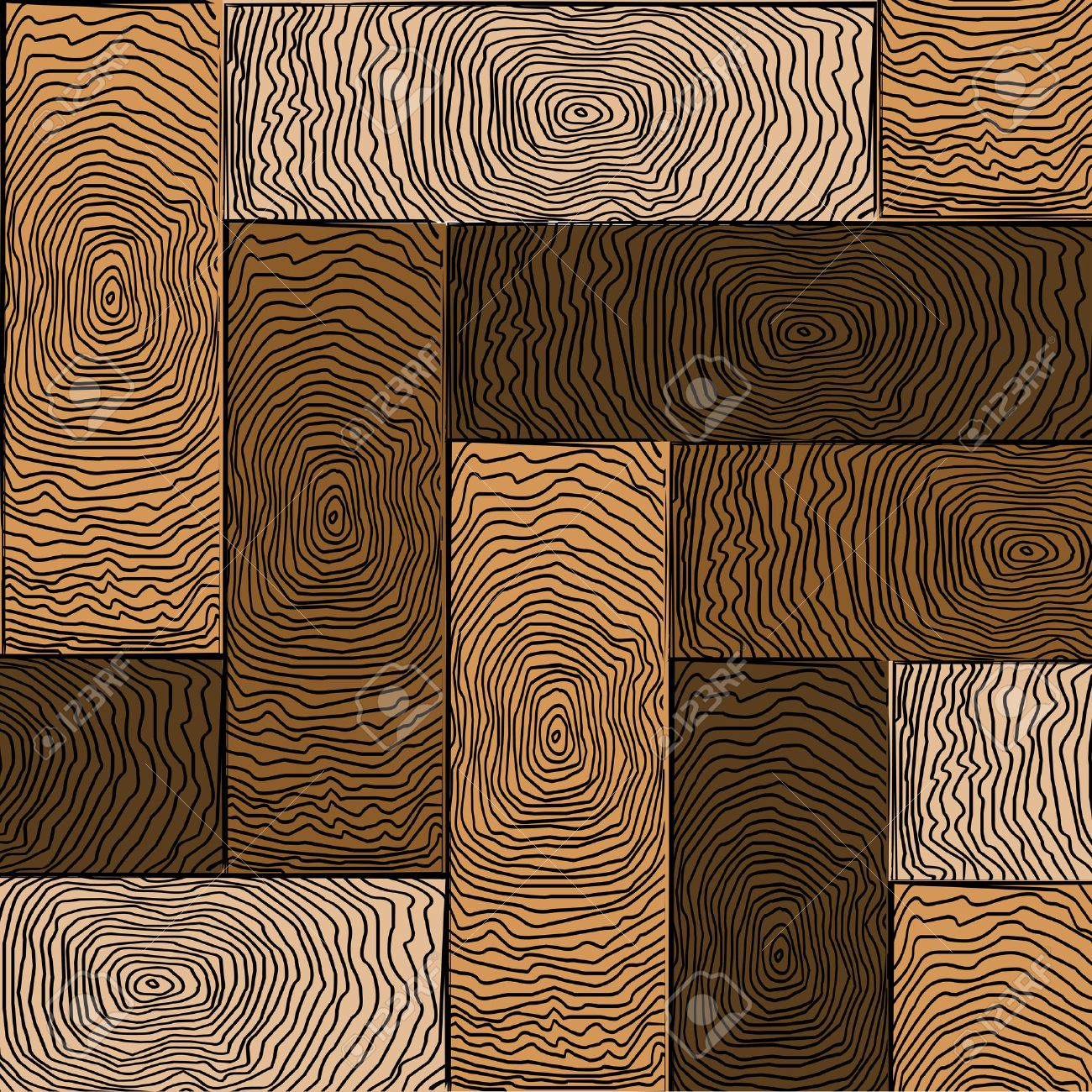 wooden colored parquet, art illustration Stock Vector - 5949029