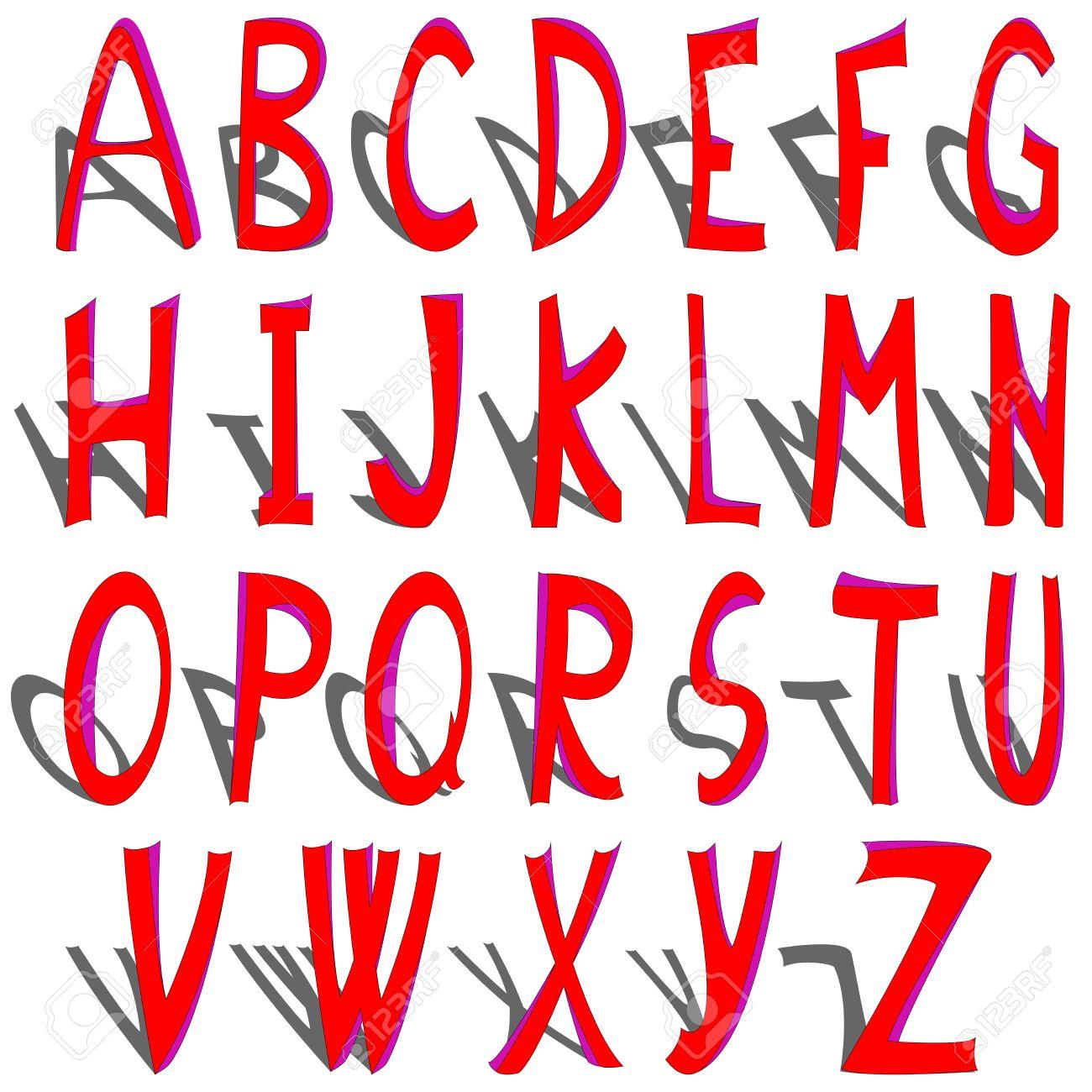 ===Alfabetos de...=== 6072150-alfabeto-sombreado-ilustraci-n-de-arte-vectorial-m-s-letras-del-alfabeto-en-mi-galer-a--Foto-de-archivo