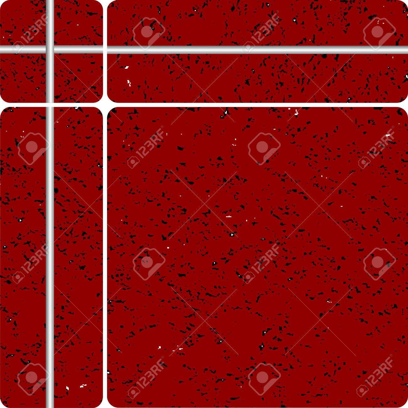 red stone tipe ceramic tiles, vector art illustration, easy to modify colors Stock Vector - 6086399