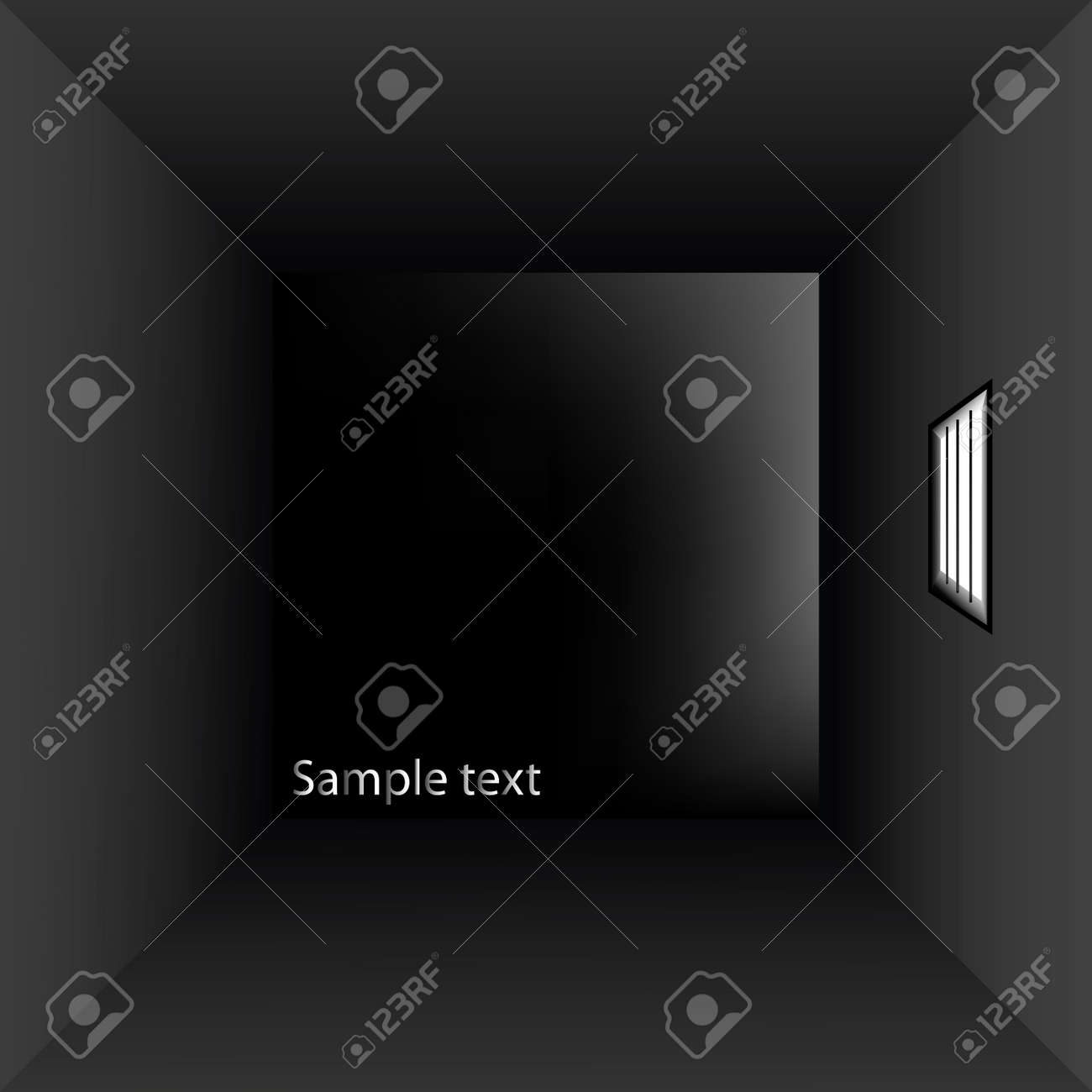 prison cell with bars, vector art illustration Stock Vector - 6110543