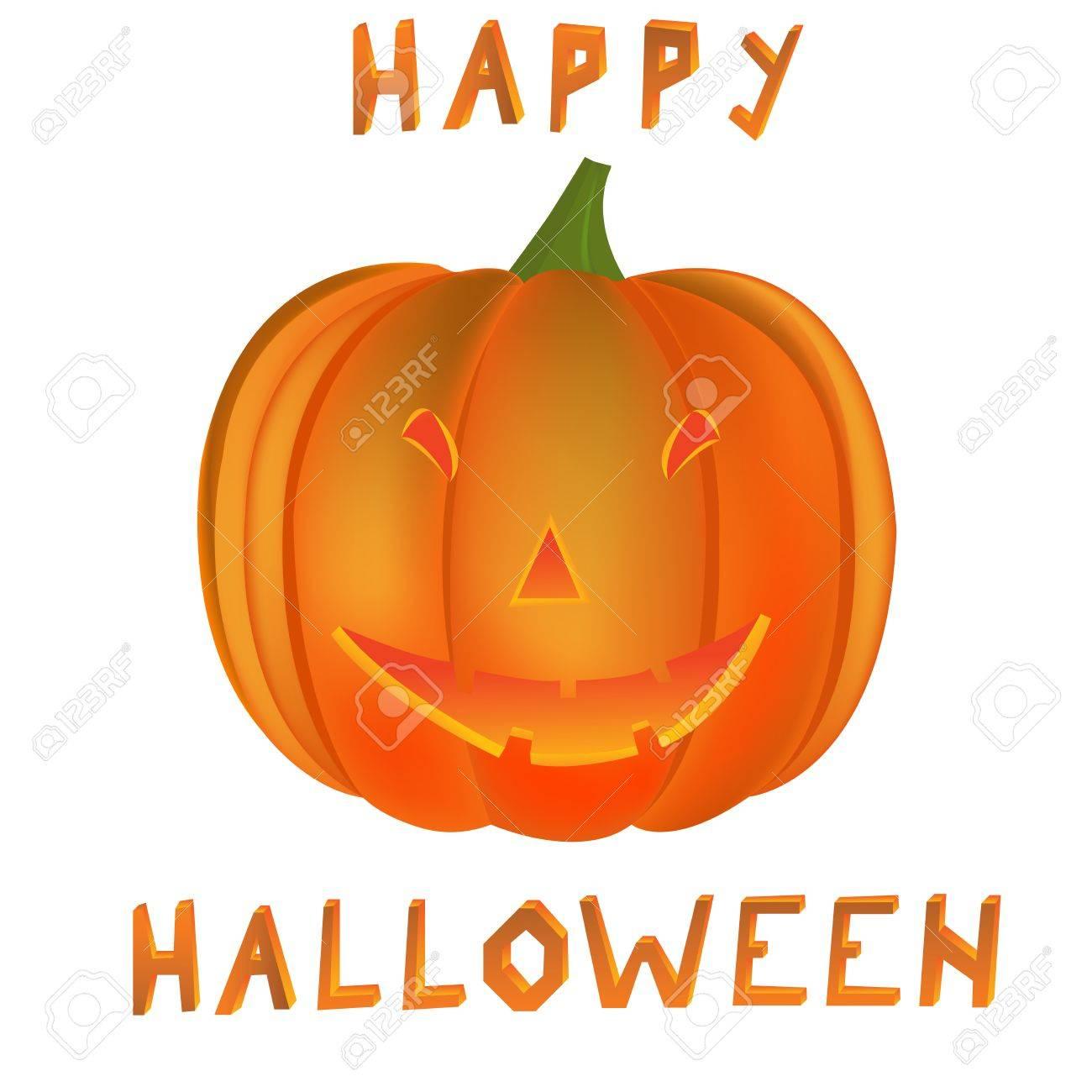 Halloween Pumpkin Vector Art.Happy Halloween Pumpkin Vector Art Illustration More Drawings