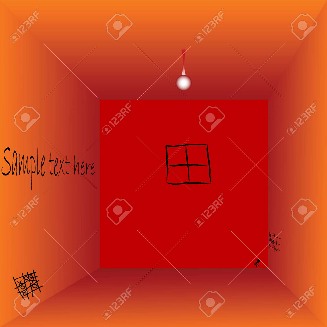 empty prison cell with space for text, vector art illustration Stock Vector - 6130494