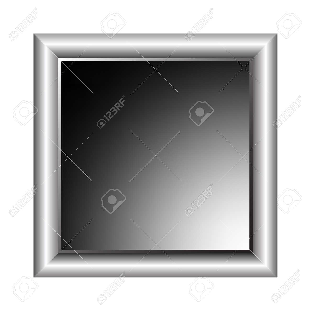 aluminium photo frame, vector art illustration; more photo frames in my gallery Stock Vector - 6159600