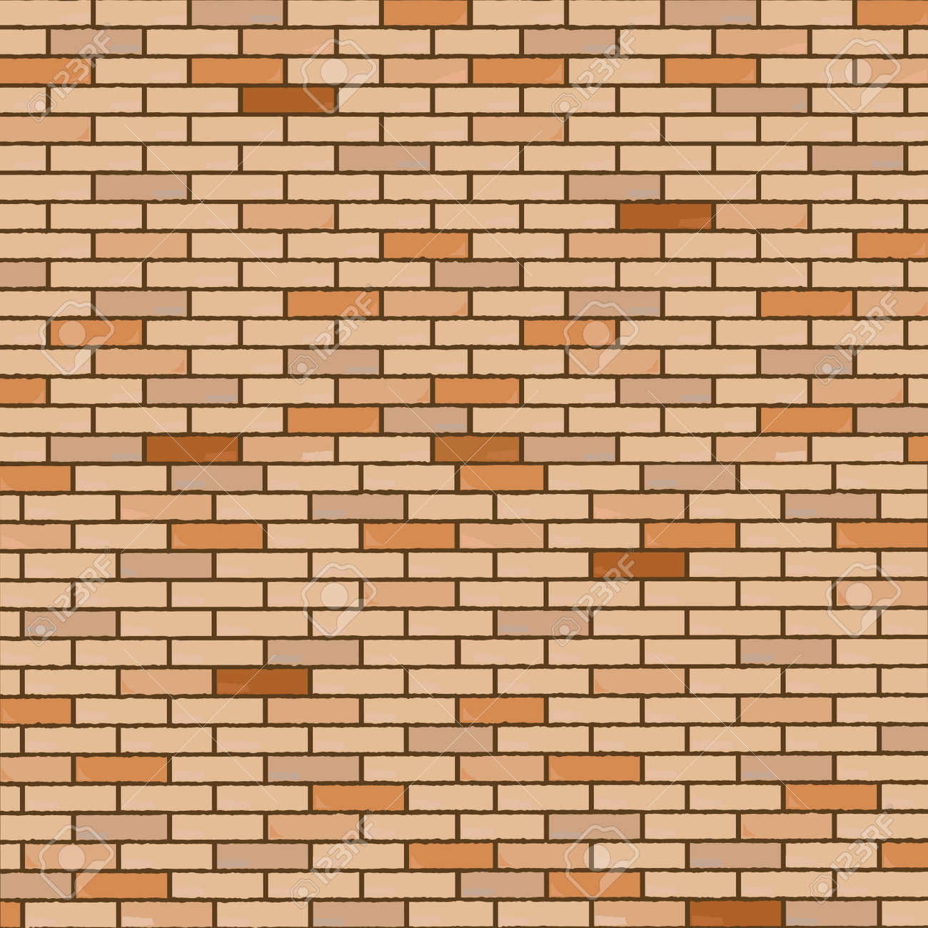 wall made of bricks, realistic texture, abstract art illustration Stock Vector - 6356336