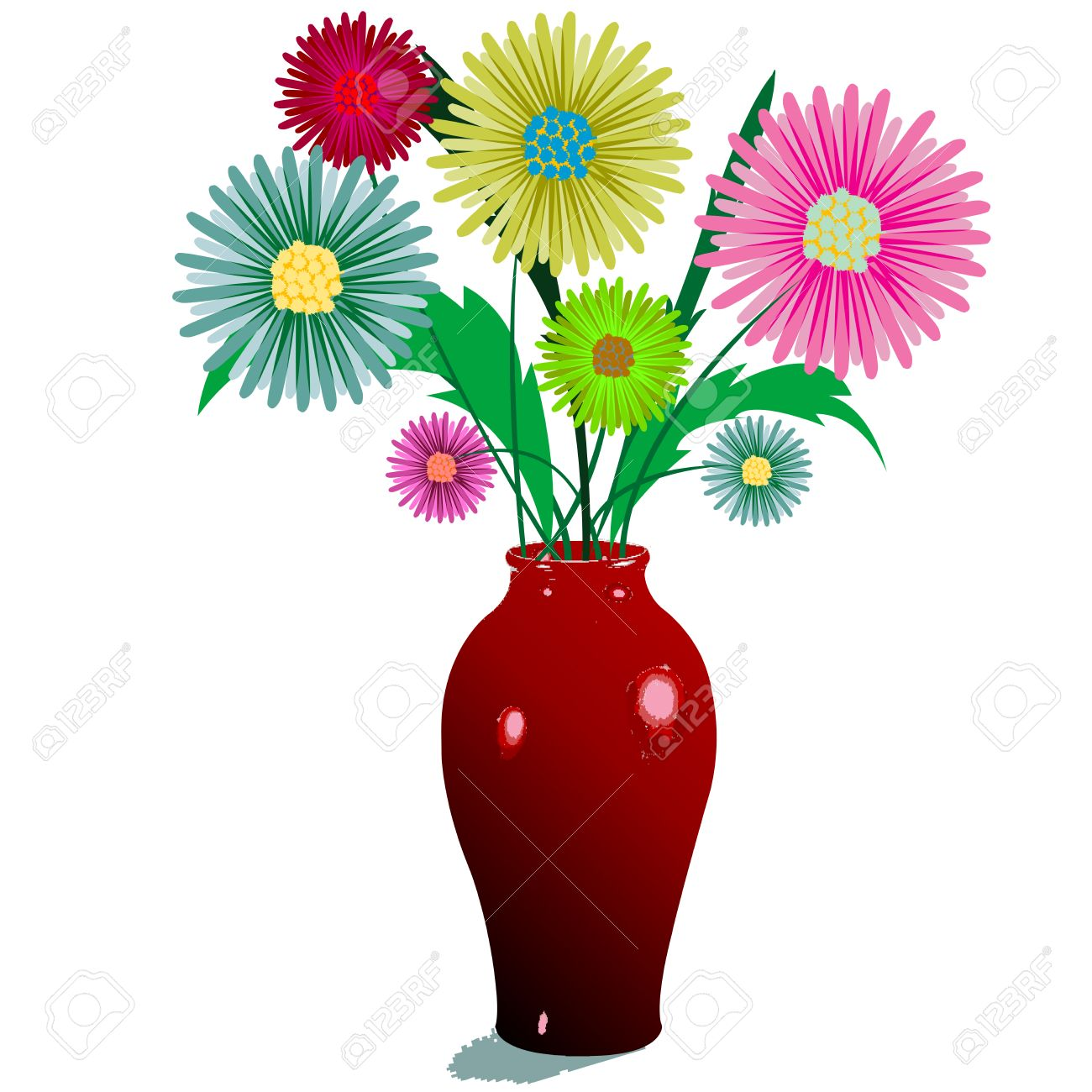 Flower vase images stock pictures royalty free flower vase flowers and vase composition isolated on white abstract art illustration reviewsmspy