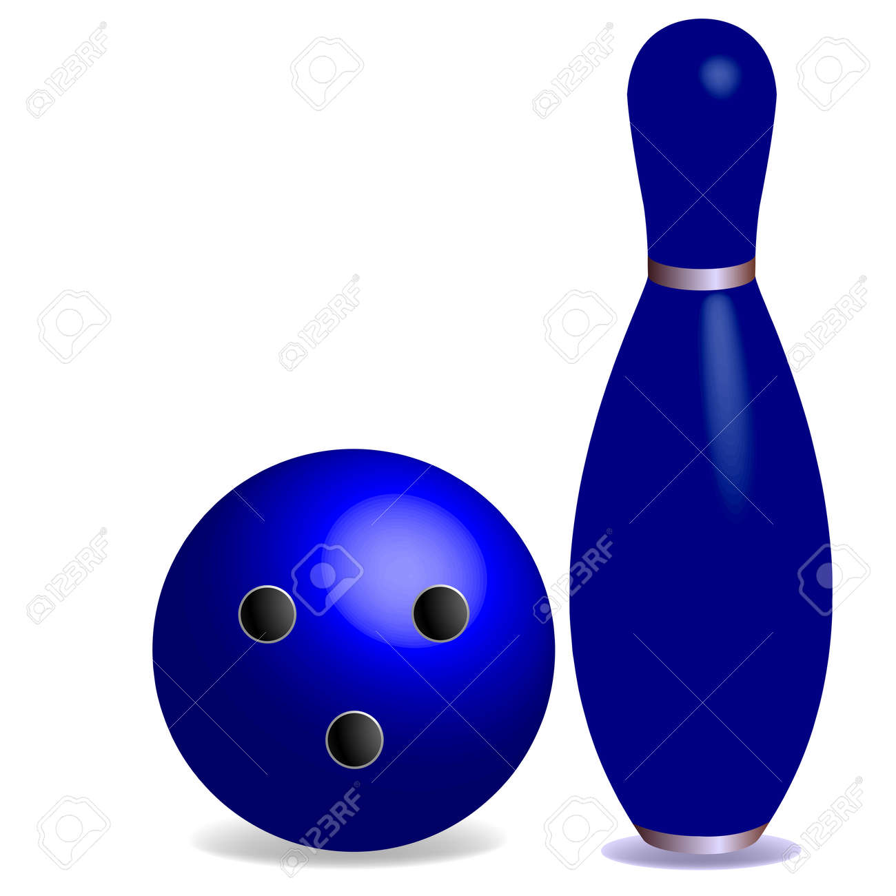 bowling concept, with room for text, abstract art illustration Stock Vector - 6690454