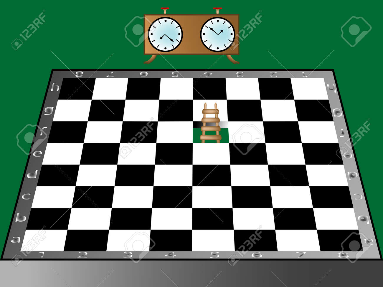 chess, ladder and clock Stock Vector - 6776211