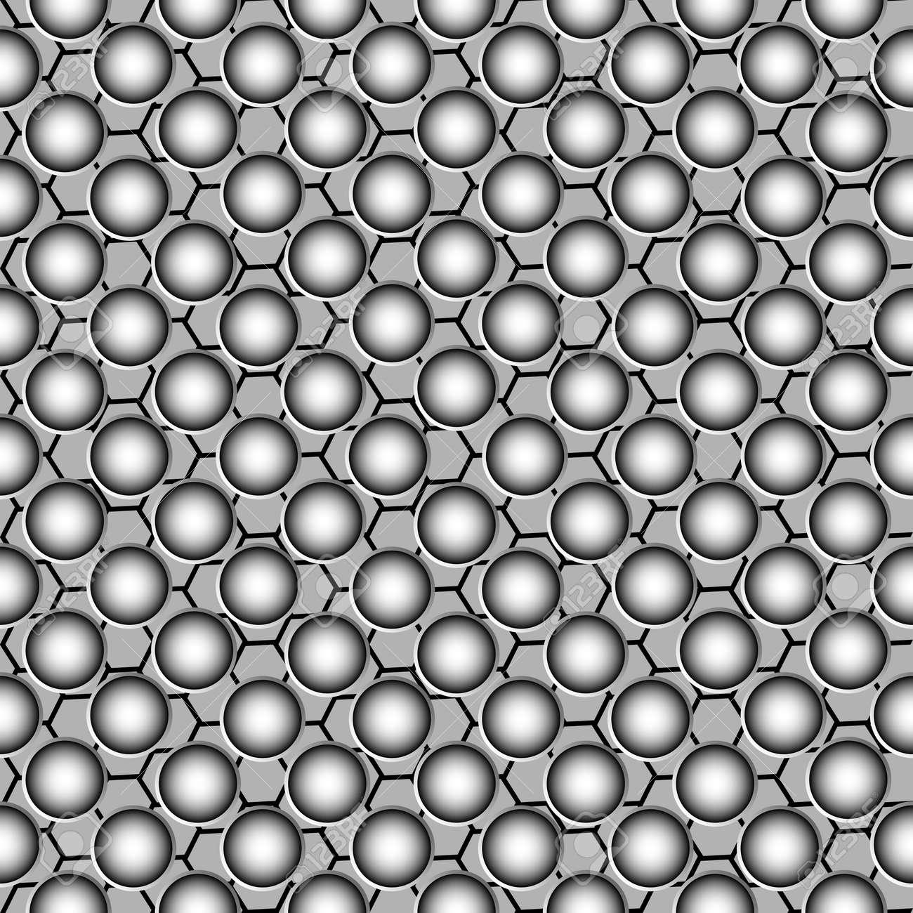 metallic circles pattern Stock Vector - 7261403