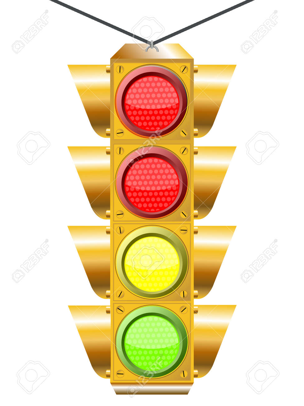 traffic light with four lights Stock Vector - 7304178