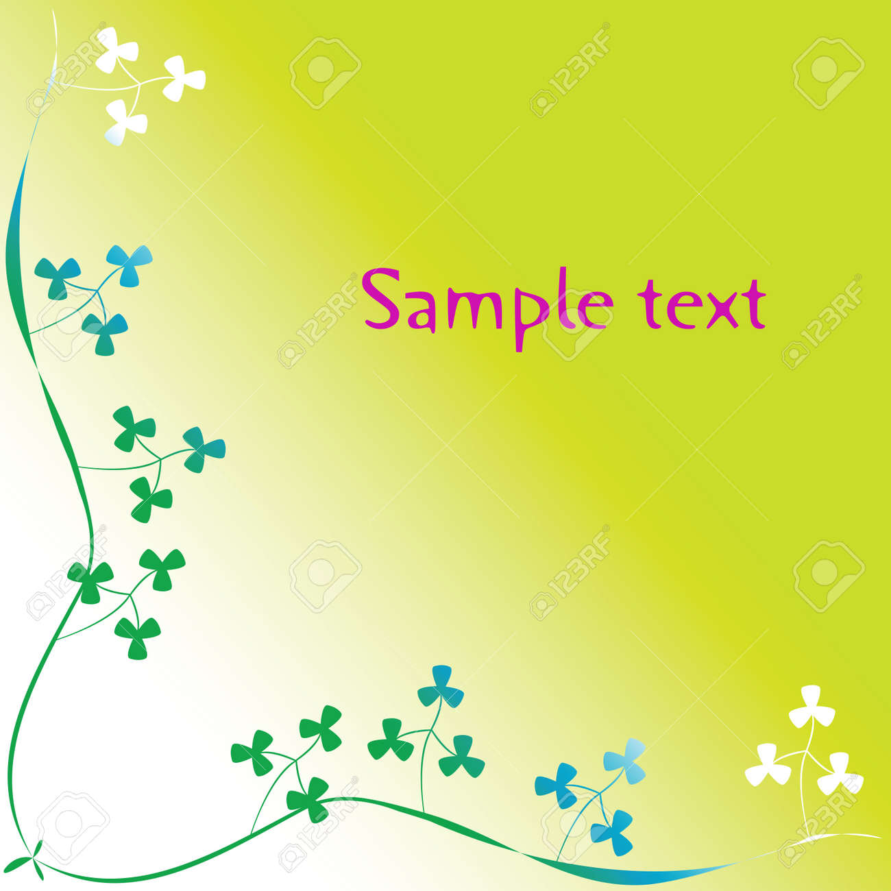 clover foliage with space for text, art illustration Stock Photo - 7323698