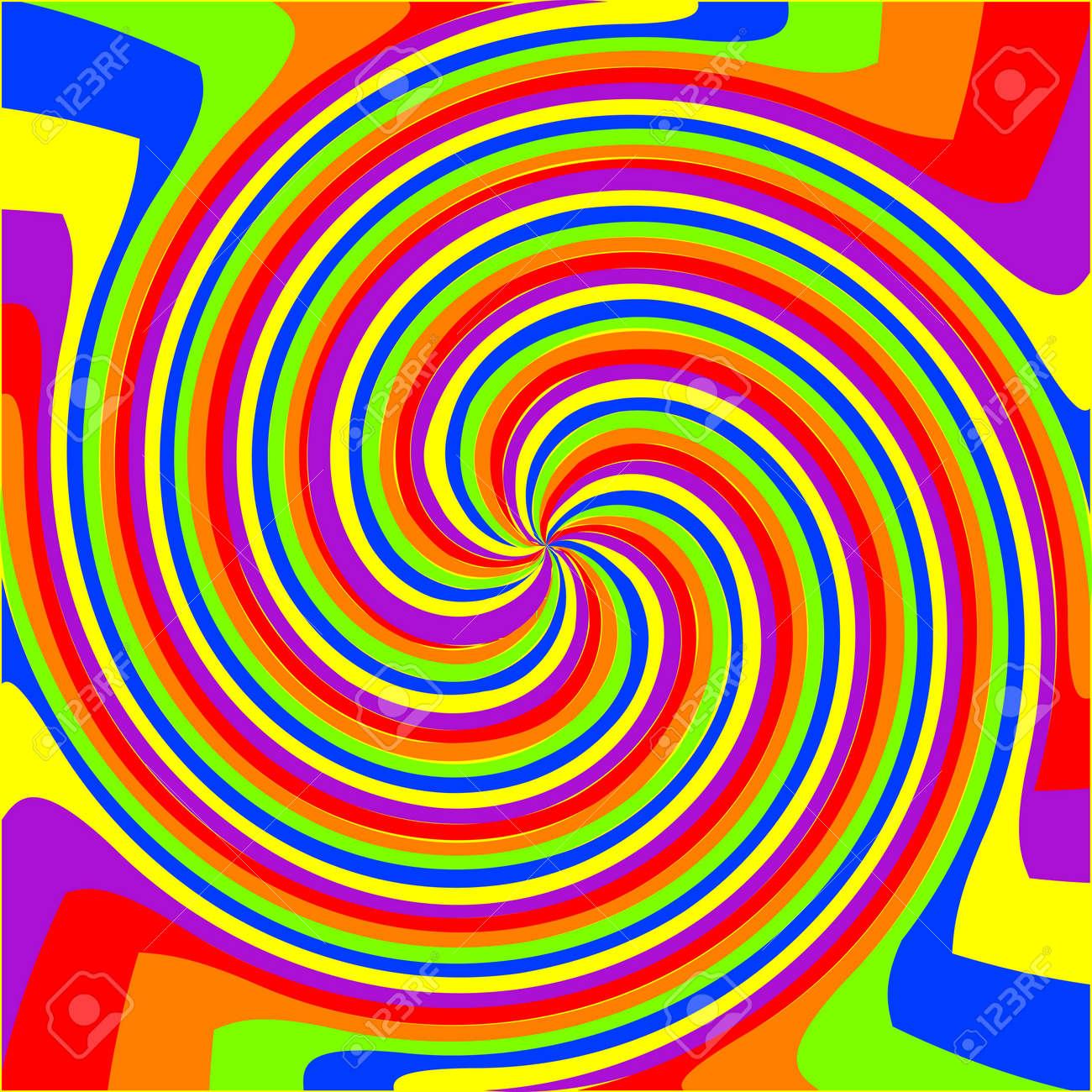 swirl rainbow composition, abstract art illustration Stock Vector - 7441249