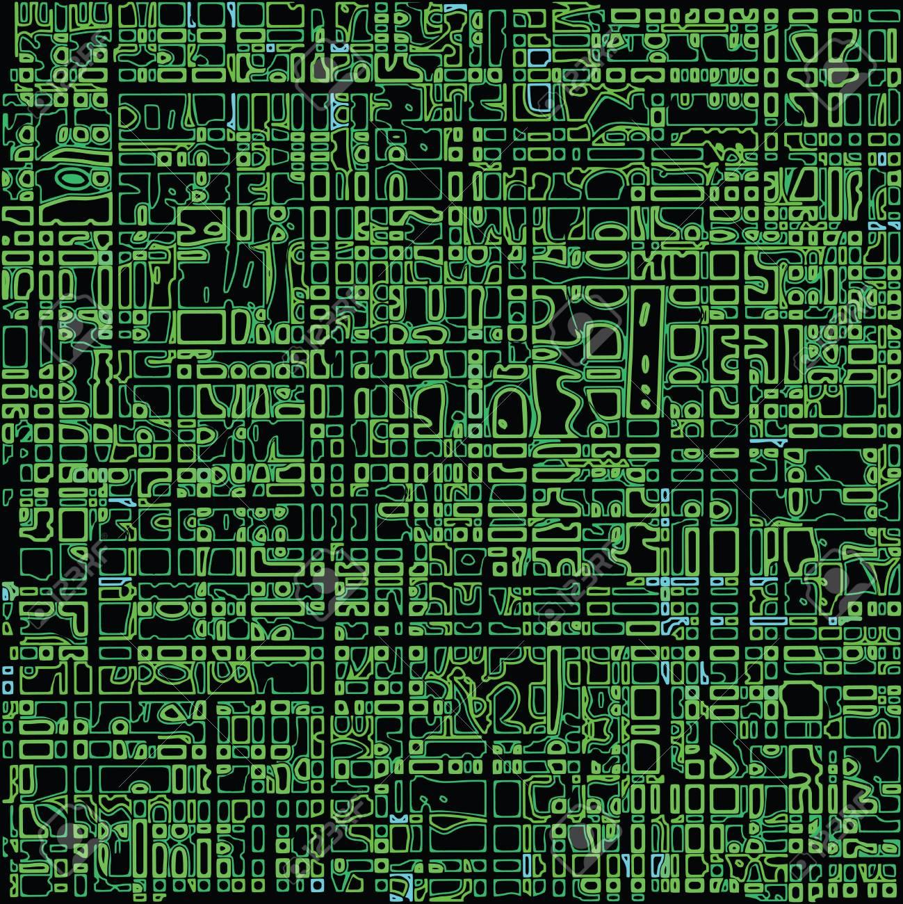 green seamless texture, abstract pattern,  art illustration Stock Vector - 7824279