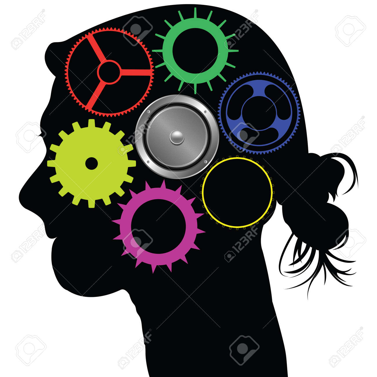 brain mechanism, abstract   art illustration Stock Photo - 8545749