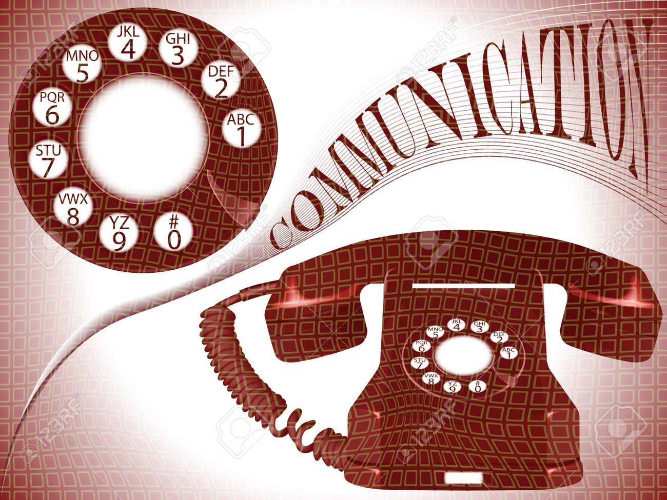 communication composition, abstract vector art illustration Stock Illustration - 8544959