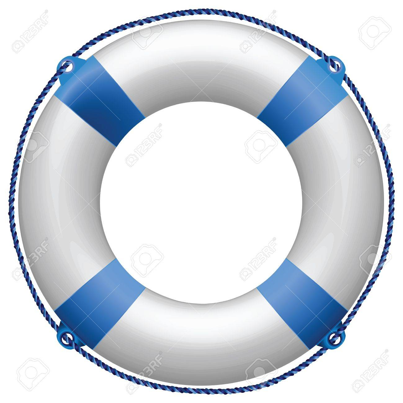 life buoy blue against white background, abstract vector art illustration Stock Illustration - 8545371