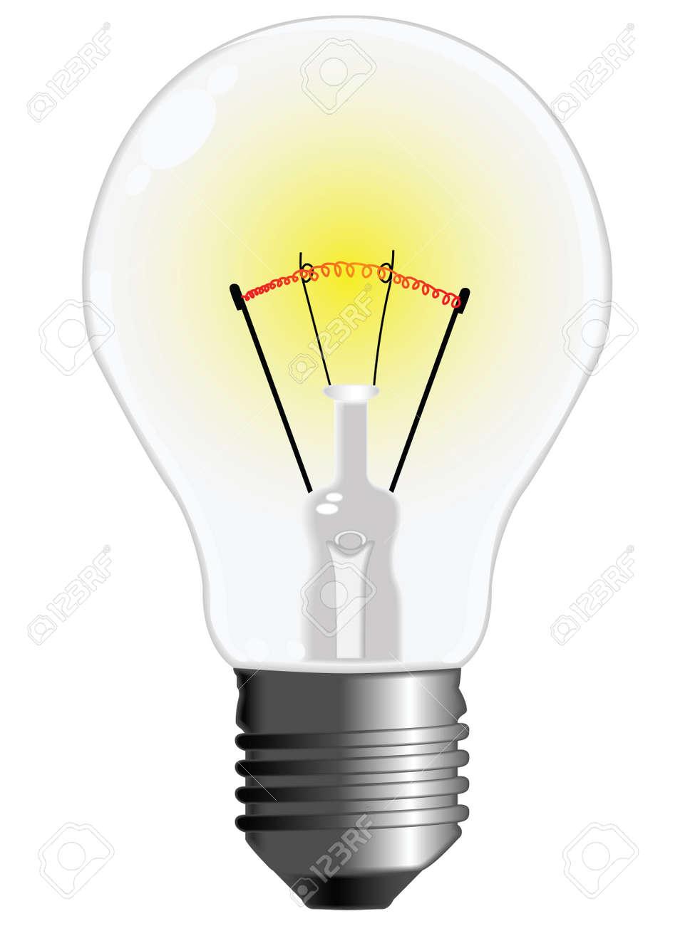 light bulb against white background, abstract vector art illustration Stock Illustration - 8545651