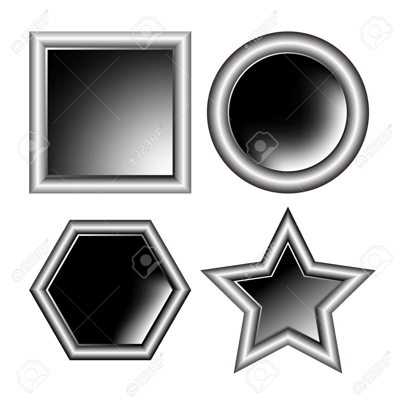 photo aluminum frames isolated on white background, abstract vector art illustration Stock Illustration - 8545448