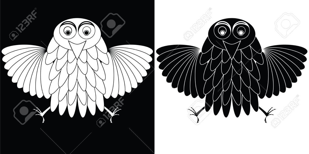 stylized owl cartoon, abstract vector art illustration Stock Photo - 8545278