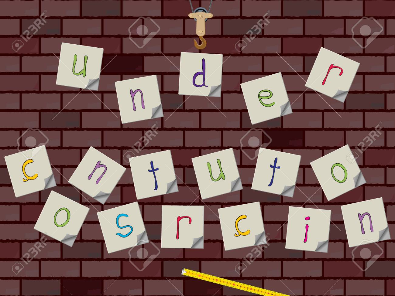 under construction notes Stock Photo - 9353773
