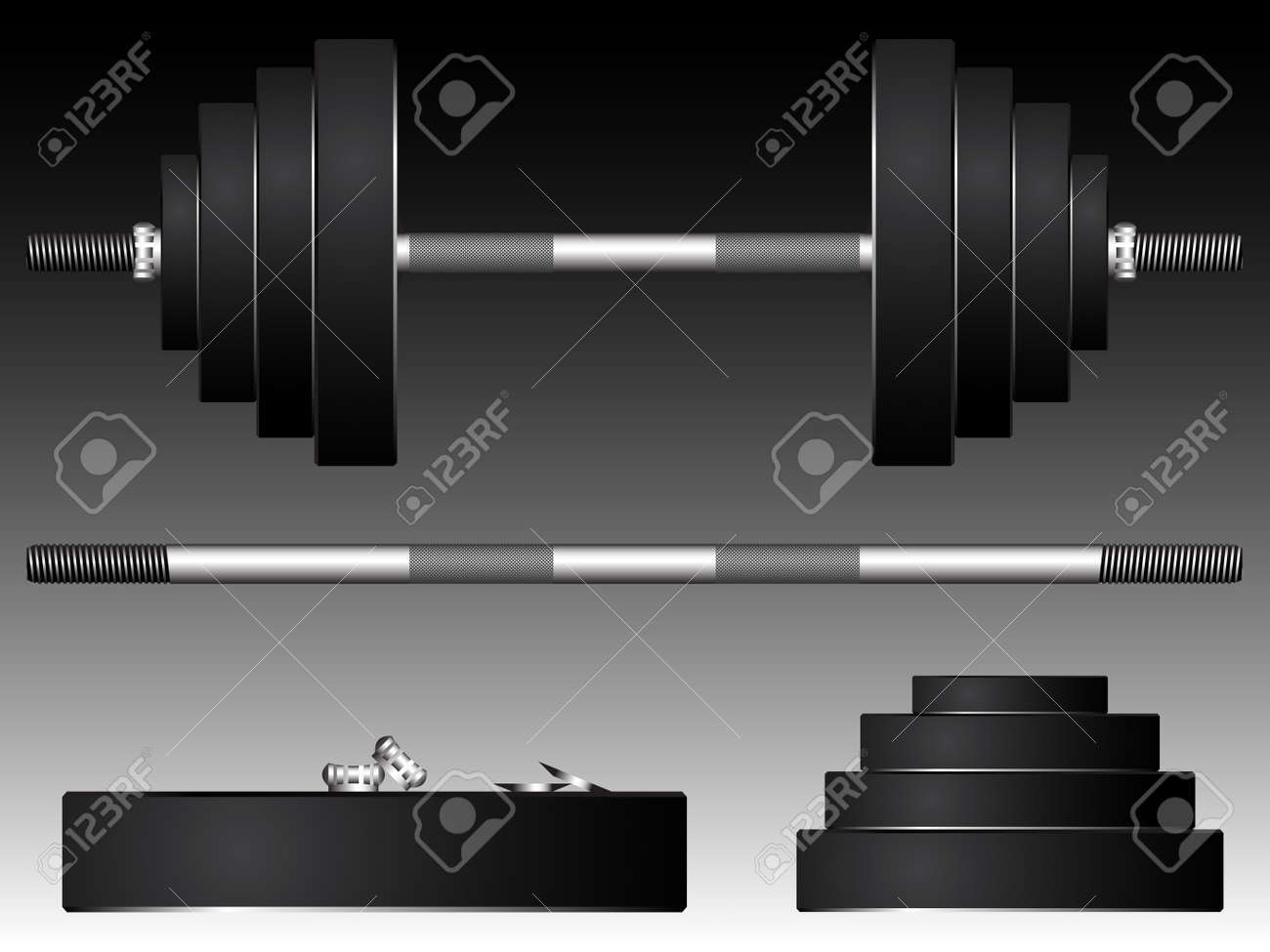 heavy weights, abstract art illustration Stock Vector - 12480653