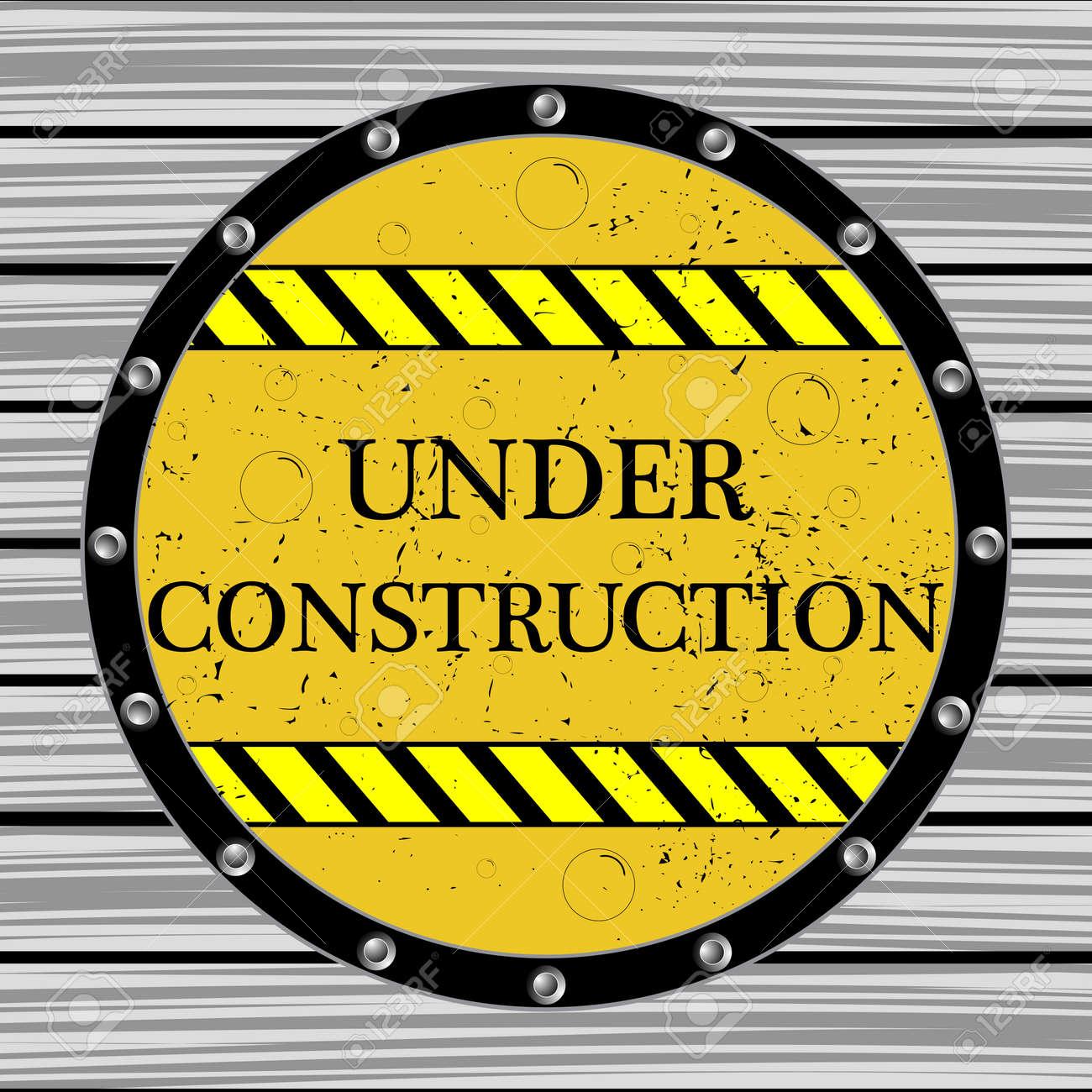 under construction window, abstract vector art illustration Stock Vector - 13434996